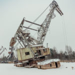 Climbing Pripyat Dock cranes in winter (video)