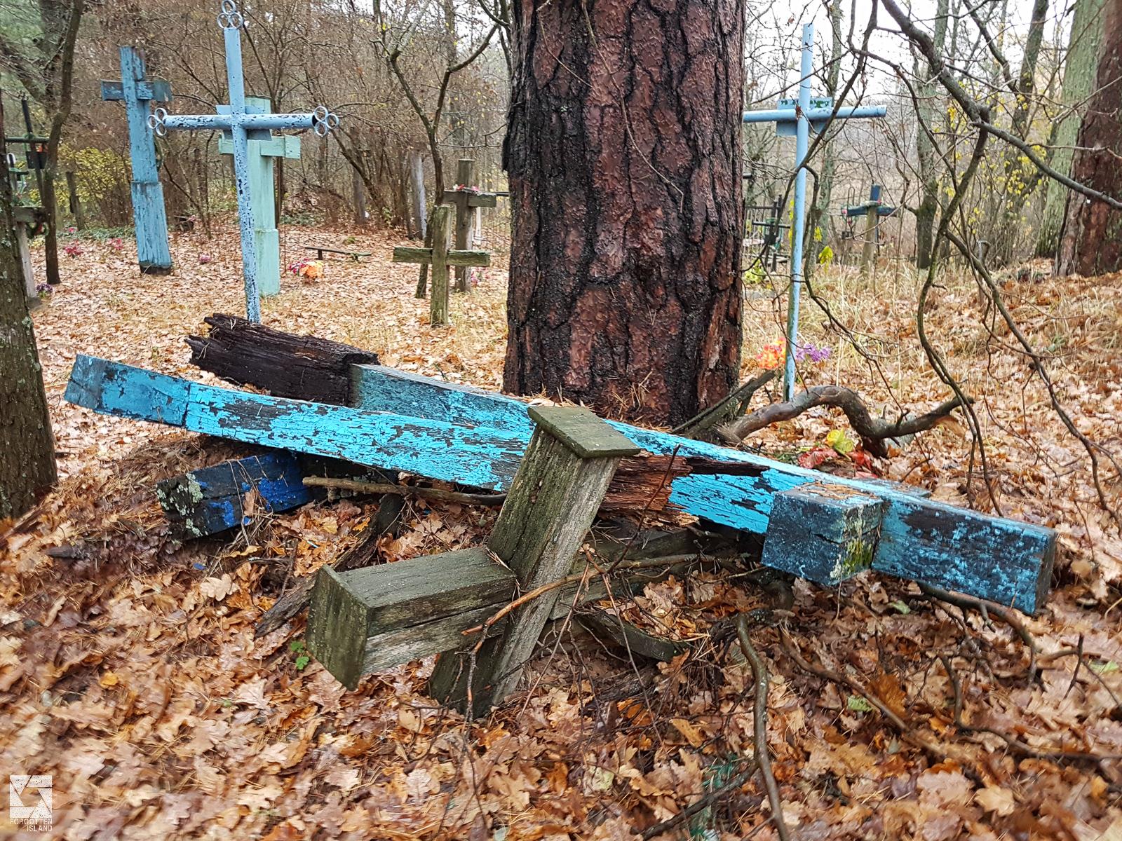 Cemetery in the Chernobyl Zone