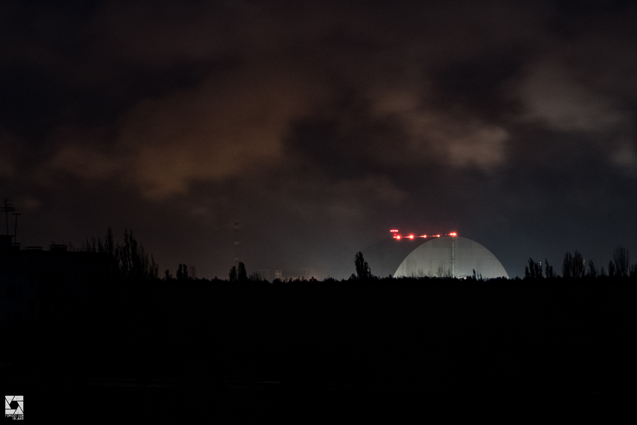 View of the Chernobyl Nuclear Power Plant