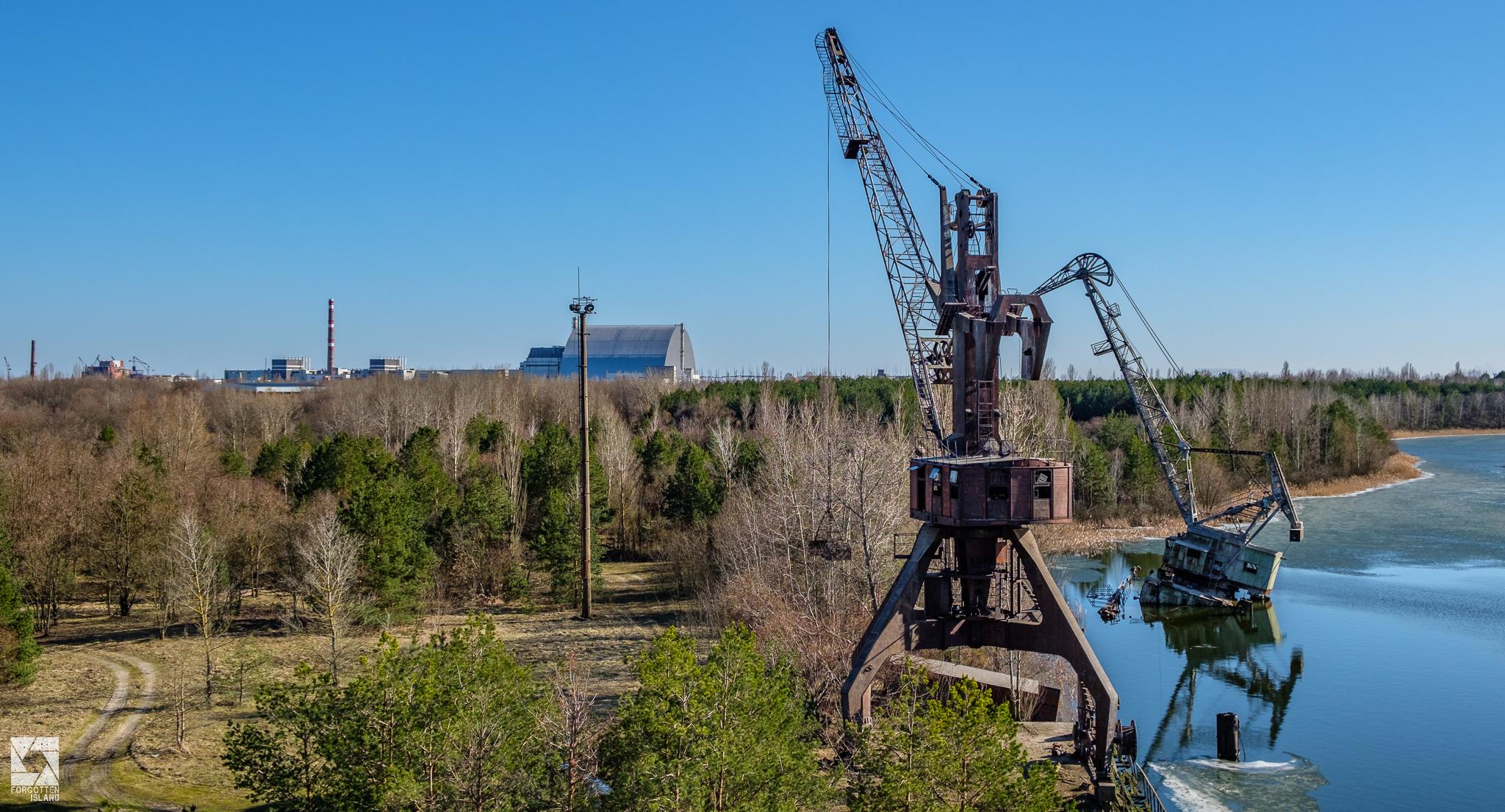 Pripyat Cargo Dock Cranes