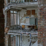 Collapsed Middle School No. 1 in Pripyat