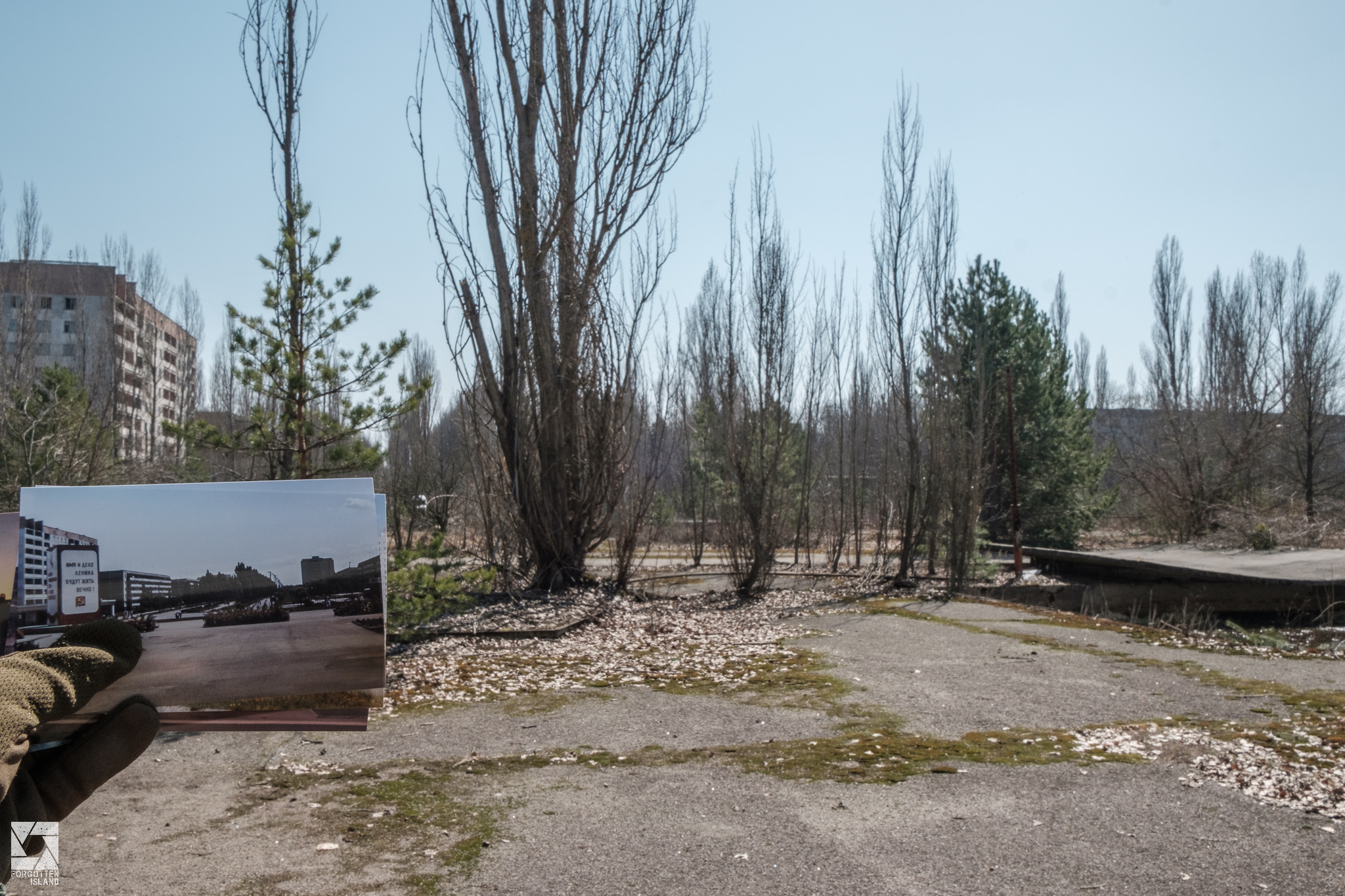 Pripyat Then and Now Part 1 - Main Square - Forgotten Island